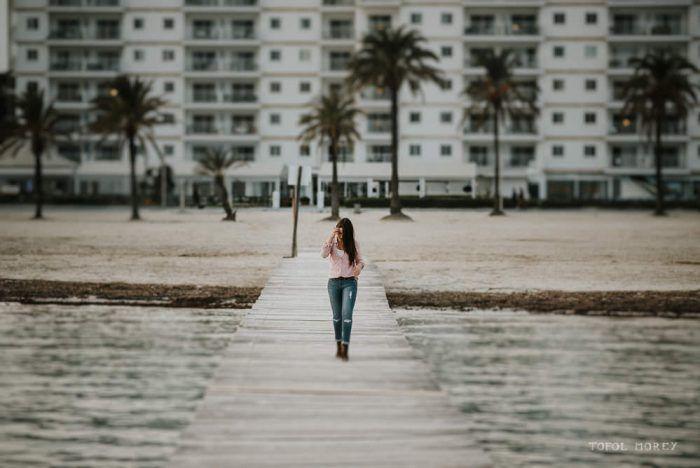 Sesión de fotos en el Puerto de Alcudia | Paula