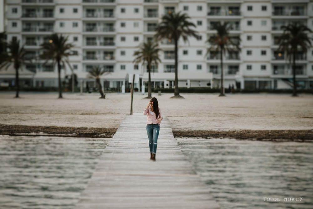 Sesión de fotos en el Puerto de Alcudia