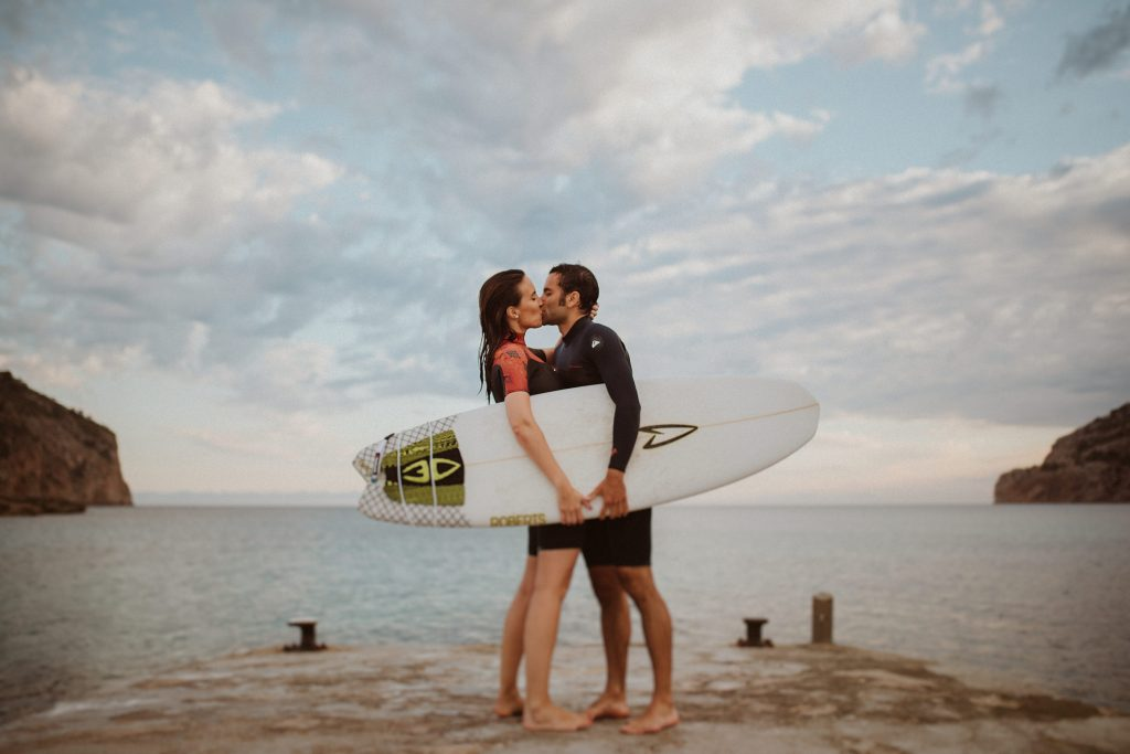 sesión pareja surf mallorca